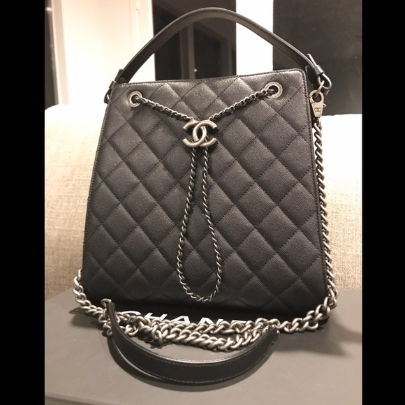 94ca05dd4129 CHANEL Bags | Accordion Cc Bucket Drawstring Caviar Bag | Poshmark